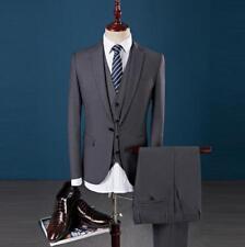 Mens Blazer Suits One-button Wedding Formal Slim Fit Set Coat Jacket Vest Pants