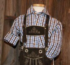 KIDSTRACHT Isar Trachten Trachtenhemd 68-176  Hemd z Kinder Lederhose blau braun