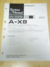 Pioneer Service Manual~A-X8 Amplifier/Amp~Original~Repair