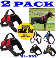 2-PACK Dog Pet Vest Harness Strap Adjustable Nylon Small Medium Large XL No Pull