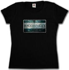 RACCOON CITY SIGN GIRLIE SHIRT - Resident Zombie Wesker Umbrella Logo Evil Girl