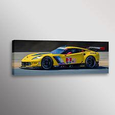 Chevrolet Corvette C7R GTLM Racecar Car Photo Automotive Wall Art Canvas Print