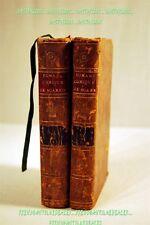LIVRE 1784 ROMAN COMIQUE DE SCARRON tomes 2&3 reliure plein cuir