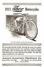 1913 THOR MOTORCYCLES BROCHURE