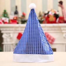 Christmas Sequin Hat Santa Claus Hats for Adult Children Decor KV
