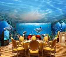 3D Ocean Dolphin fish 1101 Wall Paper Wall Print Decal Wall Deco AJ WALLPAPER