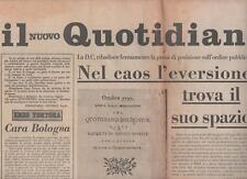 IL NUOVO QUOTIDIANO N.1 enzo tortora  08/03/75  bologna