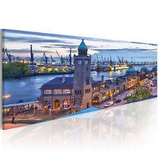 Wandbilder xxl Stadt Hamburg Architektur Leinwand Bild 120x40 135x45 030221-2