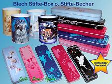 Penne box in lamiera 22cm, PENNARELLI SCATOLA di latta, matita Box Scatola di latta