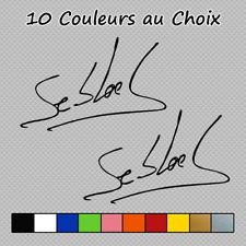2 Stickers Signature Sebastien loeb Rallye Supercar S-005 Couleurs au choix