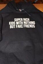 "Frank Ocean ""Super Rich Kids"" Black Graphic Hoodie Small"