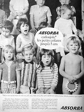 PUBLICITÉ 1956 ABSORBA CADOUJOLE LES PETITS ENFANTS JUSQU'À 5 ANS LAYETTE PYJAMA