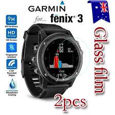 2X Garmin Fenix 3 HR Tempered Glass / Plastic Screen Protector Film Guard