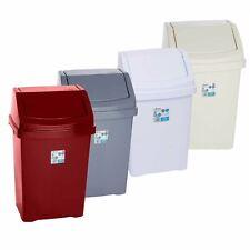 Wham Casa Plastic Swing Top Bin 8L 50L Rubbish Dust Waste Kitchen Office Home