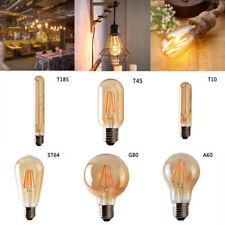 E27/B22/ E14 LED Filament Light Lamp LED Vintage Edison Amber Glass Bulb 220V UK