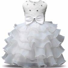 Abito Vestito elegante Bambina Ragazza Battesimo Pizzo moda 2017 cerimonia party