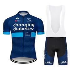 Mens Cycling Team Jersey Bib Shorts Kits Bike Shirt Clothing Pants Set S24