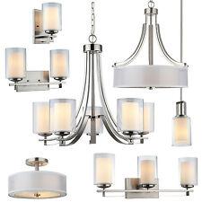 El Dorado Satin Nickel Bathroom Vanity, Ceiling Lights & Chandelier Lighting