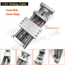 XYZ Axis Cross Slide Linear Guide Stage CNC Sliding Table SFU1605 Ballscrew