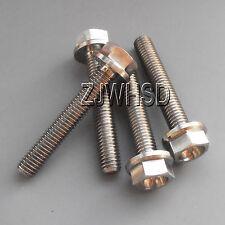 4pcs M5 Titanium Ti Screw Bolt Hexagon Hex Head Flange / Aerospace Grade No rust