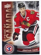 11-12 Upper Deck UD Jonathan Toews Pride of Canada #10 NHCD National Hockey Card