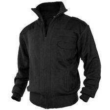 Mil-Tec Homme Chaude Gilet Pull Over Laine / Pulls hiver avec Zip Noir 46 – 60
