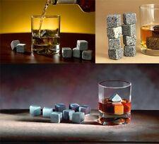 Whisky pierres, 9Pcs set de velours sac whisky rock bière pierres vin cubes