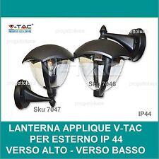 V-TAC LANTERNA  APPLIQUE LAMPADA PER ESTERNO CON BRACCIO  GIARDINO PARETE VT-731