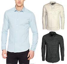 Only & Sons Mens Denim Shirt Long Sleeve Black White Blue colours S - 2XL