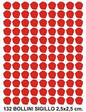 BOLLINI ADESIVI SIGILLO CERALACCA 132 pz. - 2,5x2,5 cm
