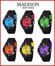 Madison New York Black Line Silikon Uhr Farbige Uhren Damen Gummi Bunte Unisex