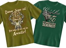 Jäger Fun Shirt T-Shirt zum 50. Geburtstag Fünfzigsten Jagen Jagd Förster
