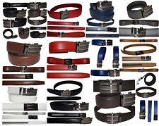 "Real Leather Men's Belt. Automatic lock. Dress & Casual belt.Fashion belt up 50"""