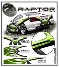 Race car truck wrap vinyl graphic decal sides hood rear style raptor