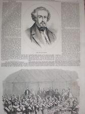 Artista francés Francia pintor la tarde Ary Scheffer 1858 impresión y artículo antiguo