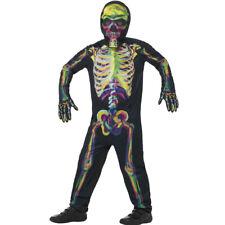 Kids Glow the Dark Multicoloured Skeleton Costume Scary Halloween Smiffys 45124
