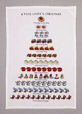 A Food Lover'S Christmas Flour Sack Kitchen Towel -David Price 12 Days Of Xmas