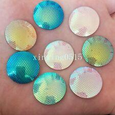 New DIY 20PCS 20mm AB Resin round Rhinestone Flatback Wedding  Buttons crafts