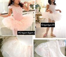Vestito Tutù Saggio Danza Bambina Bianco e Rosa Girl Ballet Tutu Dress DANC002