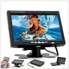 Monitor TFT LCD 7'' Colori AUTO BARCA Telecamera Retromarcia 2 VIDEO IN Telecom.