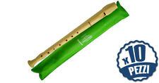 HOHNER 9508 - 10 Flauti Dolci Soprano Diteggiatura Tedesca Bundle Speciale Scuol