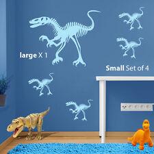 Dinosaurs Figures Raptor Jurassic World Park Kids Vinyl Wall Sticker Decal A97
