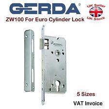Gerda High Quality Mortice Door Lock For Euro Cylinders Locks Silver ZW100