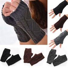 Pop Unisex Men Women Arm Warmer Fingerless Knitted Long Gloves Cute Mittens LJ