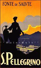 San Pellegrino Italy 1928 Vintage Poster Print Retro Italian Travel Tourism Art