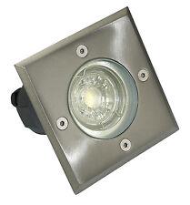 230V LED Aussen Bodenstrahler Bodo rund / eckig Terrasse GU10 IP67 & 3W LED-Spot