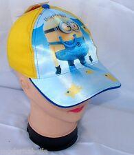 Minions Spiaggia cappello Premium con visiera Bambino Baseball tg 52 i 54 giallo