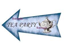 Alice in Wonderland Blue Arrow Sign Prop - TEA PARTY - Party Wedding Birthday
