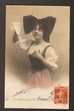 TOUL (54) FEMME Costumée , TENDRE BONJOUR de ... 1911