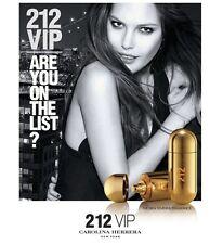 212 VIP  by Carolina Herrera 2.7 / 1.7 Oz EDP Perfume for Women New In Box